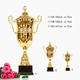 Custom gold trophy cup firt-place winners medal in china