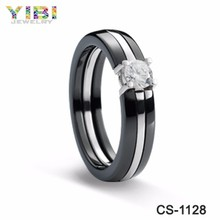 China jewelry wholesale cz ring,Unique cz rings,CZ Ridges shiny unique ceramic ring