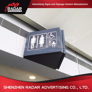 Metal Toilet Restroom Display Sign Door Room Guide Sign in Public