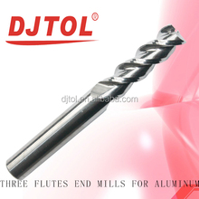 THREE FLUTES END MILLS FOR ALUMINUM cnc and engraving bits