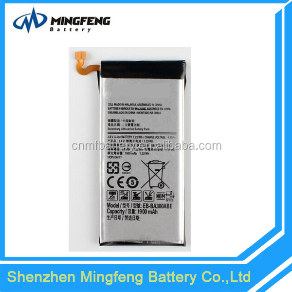 Made in shenzhen gb/t 18287-2013 mobile phone battery for Samsung Galaxy A3 battery