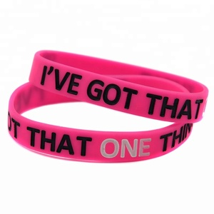 50PCS/Lot One Direction Bracelet I Have Got That One Thing Silicone Wristband