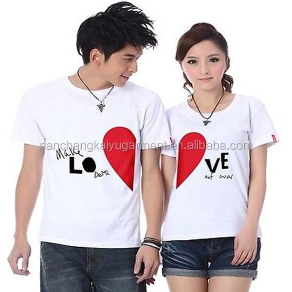 Love Couple T-shirt Design/couple Lover T Shirt - Buy Love ...