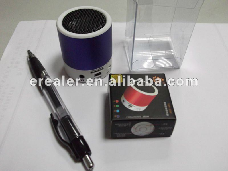 2012 new Mini Speaker USB/MICRO SD/FM speaker with rechargable battery