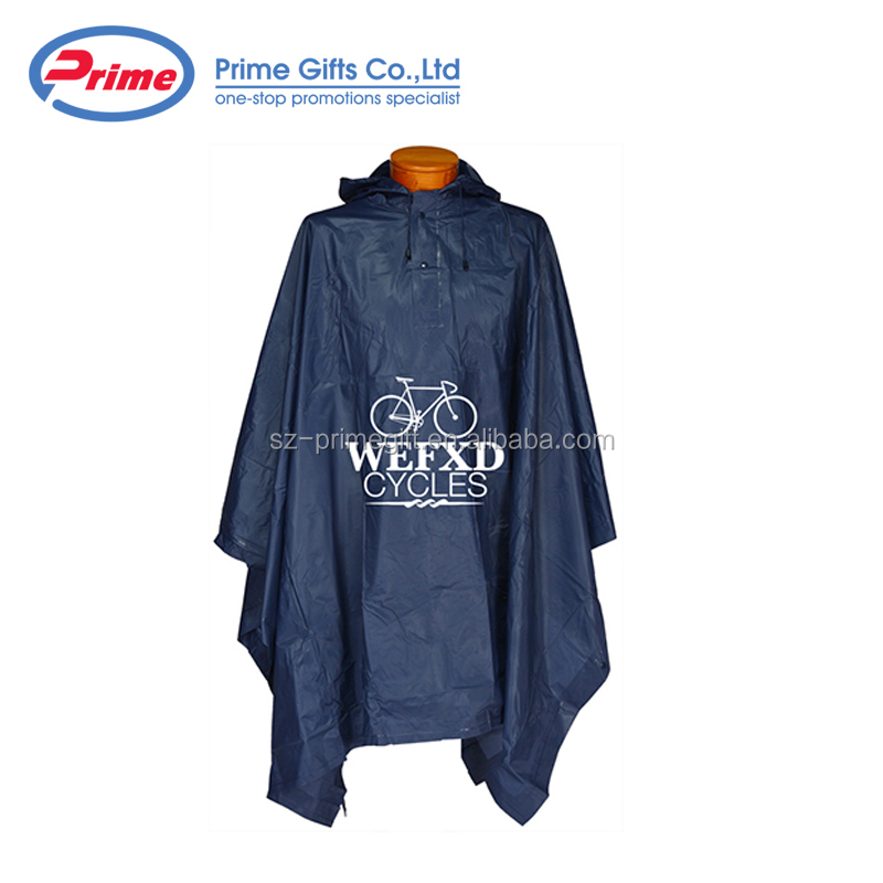 Personalized PVC Poncho Raincoat with Competitive Price