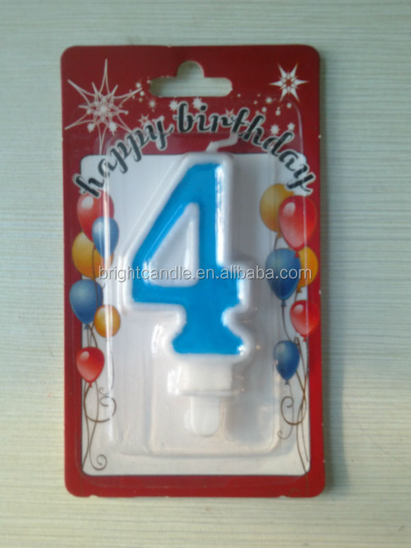 Angel Flames Coloured Birthday Cake Candles Number Candle