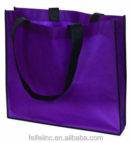 Promotional durable PURPLE non woven handle shopping BAG
