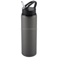 800ml/27oz SGS approved aluminum drink bottle logo printing .aluminum water bottle with straw lid