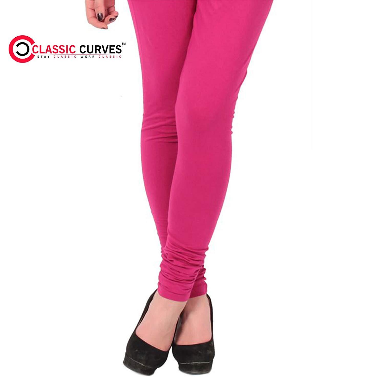 c42b393a936c64 Get Quotations · Classic Curves Indian Free Size Cotton Lycra Legging for Women  Chudidar Women's Legging Long