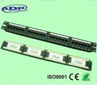 1U UTP RJ45 cat5e 24 port patch panel