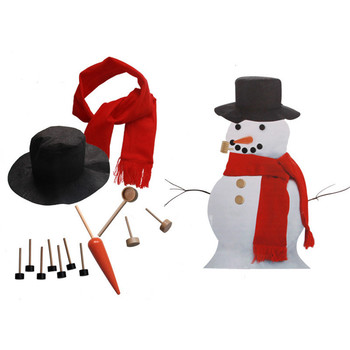 Sneeuwpop Decorating Kit 13 stks Sneeuwpop Maken Kit Winter Party Kids Outdoor Speelgoed Decoratie Kerst Vakantie Decoratie Gift