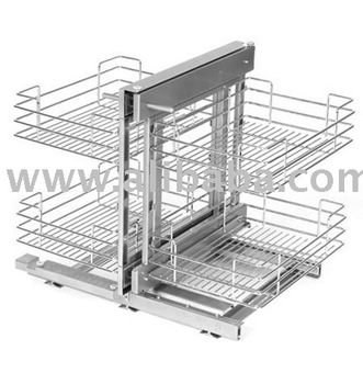 Excel MAGIC Basket Corner Storage System Pull Out Wire