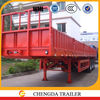 700mm side curtain semi trailer flatbed trailer twist lock with side guard