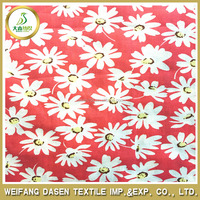 2015 Geometric patterns daisy flower 100% polyester woven printed fabric