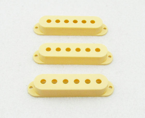 3pcs Cream Single Coil Pickup Covers 48/50/52mm Pickup Cover M544