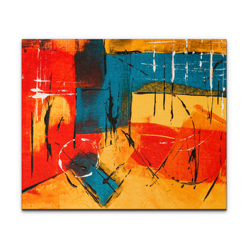 Guangdong Dafen Color Block famous colorful oil painting