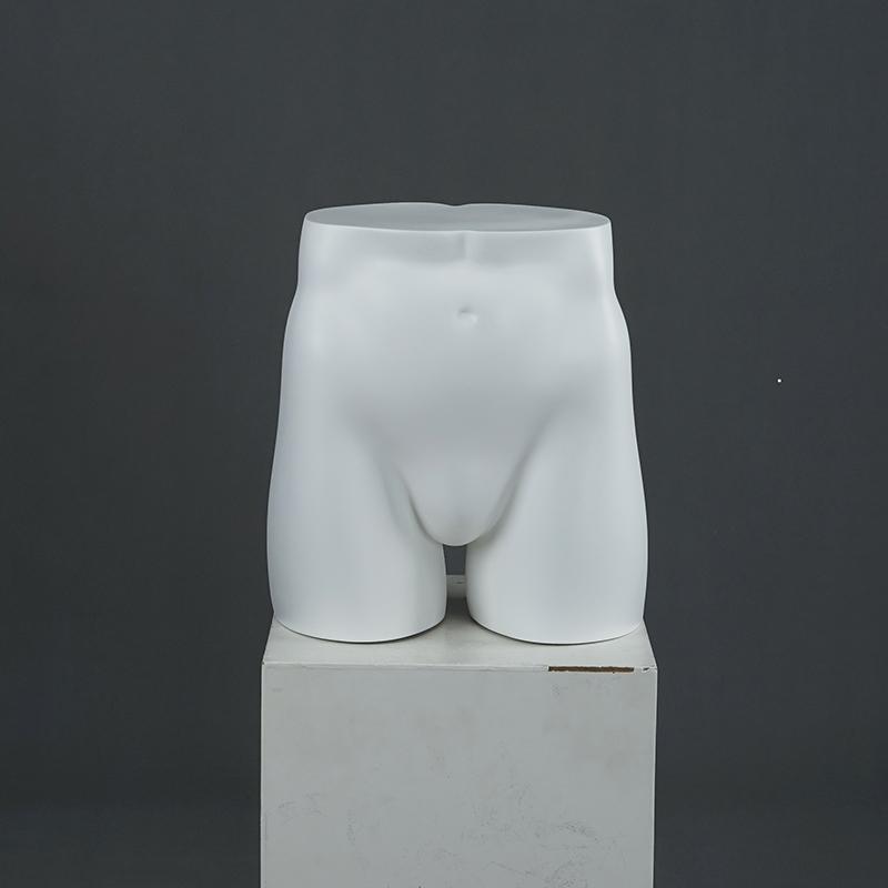 Sportswear etc White Plastic Male Bottom Display Mannequin Ideal for Underwear