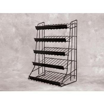 """5-Tier Candy Snack Display (Black) [2 Pieces] *** Product Description: 5-Tier Candy Snack Display (Black) Waterfall Merchandiser Features: 5 Tier Counter Top Display . Shelf Depth Ranges From 4"""" To 8"""" . Each Tier Includes Welded. Sign Channel 14"""" ***"""