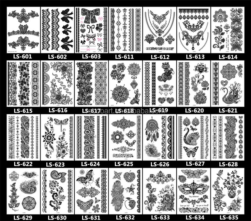 neueste 2016 hei er schwarz wei tattoo henna spitze gro. Black Bedroom Furniture Sets. Home Design Ideas