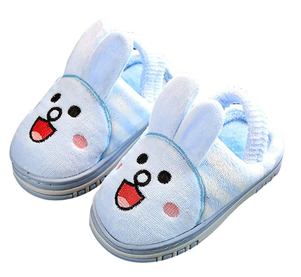 ddac40abd4b5 Get Quotations · C wait Animal Warm Fluffy Slippers Kids Cute Slippers  Toddler Little Kid