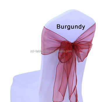 burgundy wedding party organza chair tie back sashes buy wedding
