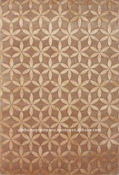 Handgeknupfte Wolle Bambus Seide Teppiche Handgemachte In Indien