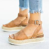 Z90810A 2019 Flip Flop Chaussures Femme Platform Sandals Women Sandals Plus Size Wedges Shoes