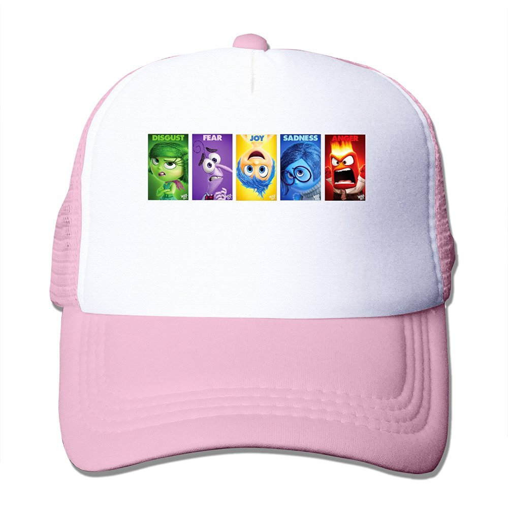 a123f96f48c TIKE Unisex Outdoor Inside Out 2015 Character Name Baseball-caps Caps Hat  Meshback Black
