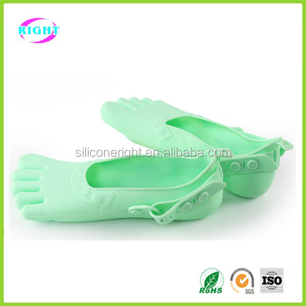 anti-skidding silicone sandals five toe rubber shoes