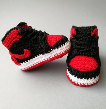 Cute Design Hand Knitted Crochet Baby Girl Sports Shoes Buy