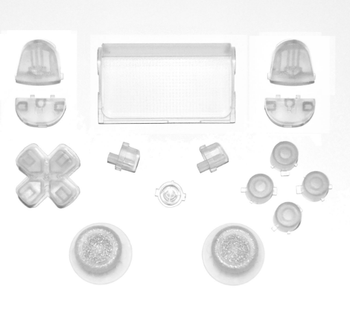 For PS4 Clear Buttons Replacement Controller Full Buttons Custom Mod Kit Set For PS4 Controller