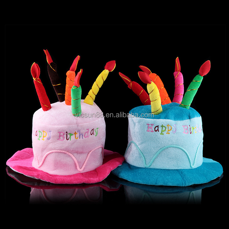 Birthday Party Supplies Adults Or Kids Happy Cake Shape Hat With Candles