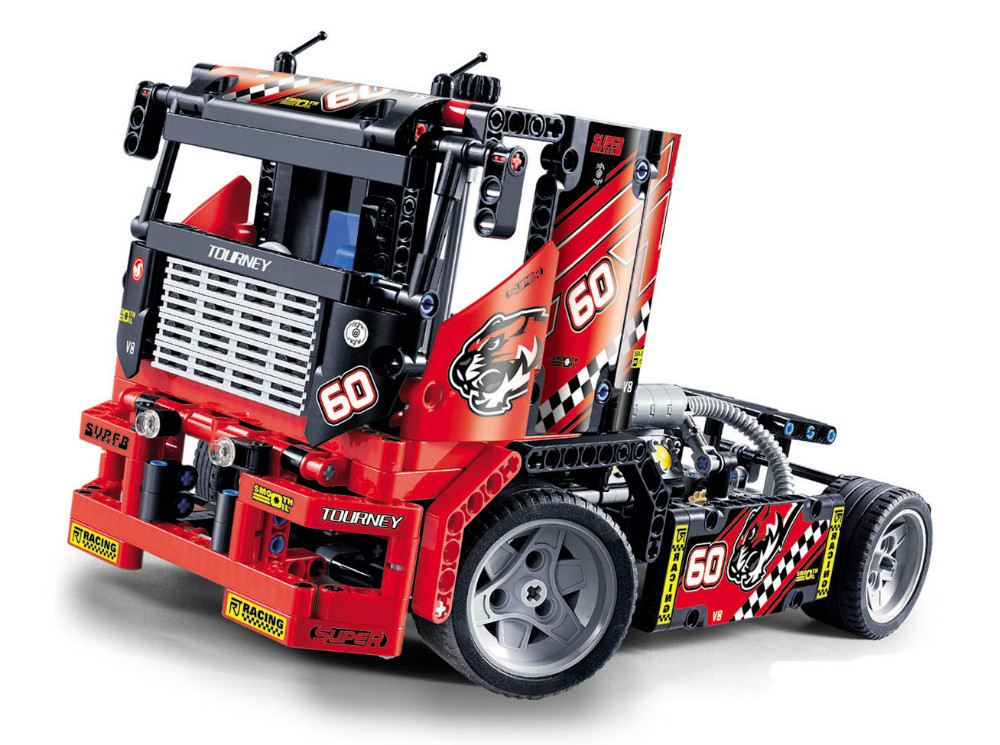 UKLego Technic City Series 2 Model Race Truck Car Building Blocks Bricks Model Kids Toy.  Material:ABS plastic/non-toxic, Its safety includes European and American toy safety standard and GB standard.