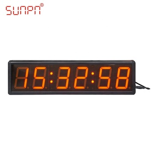 Custom Indoor digital led wall clock for POE/NTP/GPS/CDMA