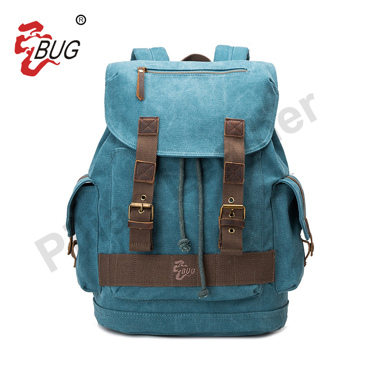 Wholesale China Manufacturer Cheap Price Fashion Vintage Canvas School Custom Backpack