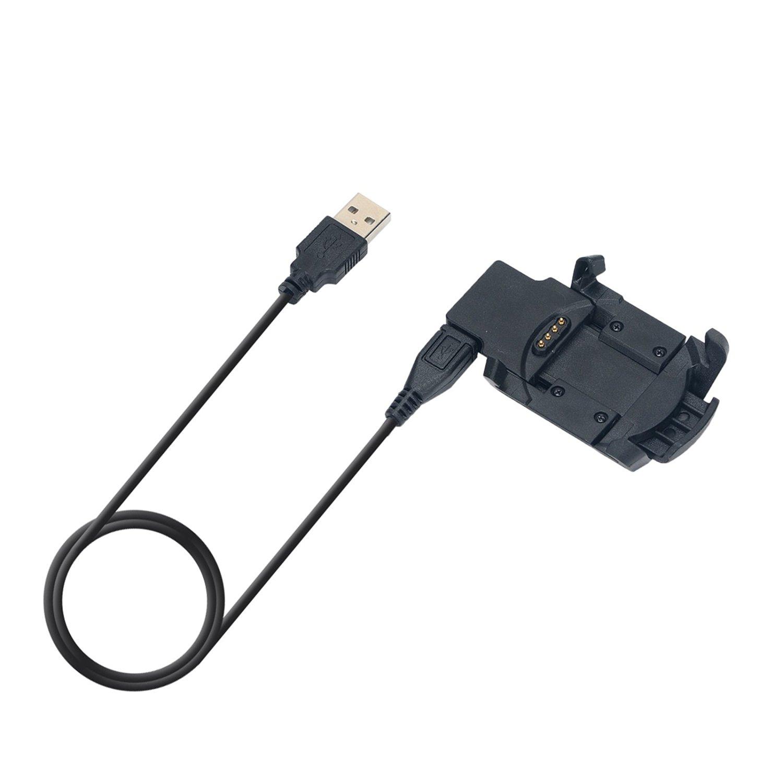 Xberstar Replacement USB Data Sync and Charging Cradle Charger Clip for Garmin Fenix 3 HR / Garmin Fenix 3 / Garmin Quatix 3 GPS Smart Watch