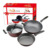High quality stainless steel cookware set soup frying pan stainless steel set for home food cooking