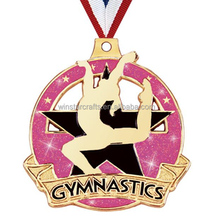 Wholesale gymnastics sports metal souvenir gold custom medals