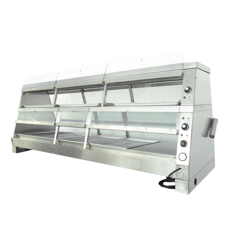 2.44m Commercial Luxury Hot Food Warmer Display Cabinet with Moistening Function