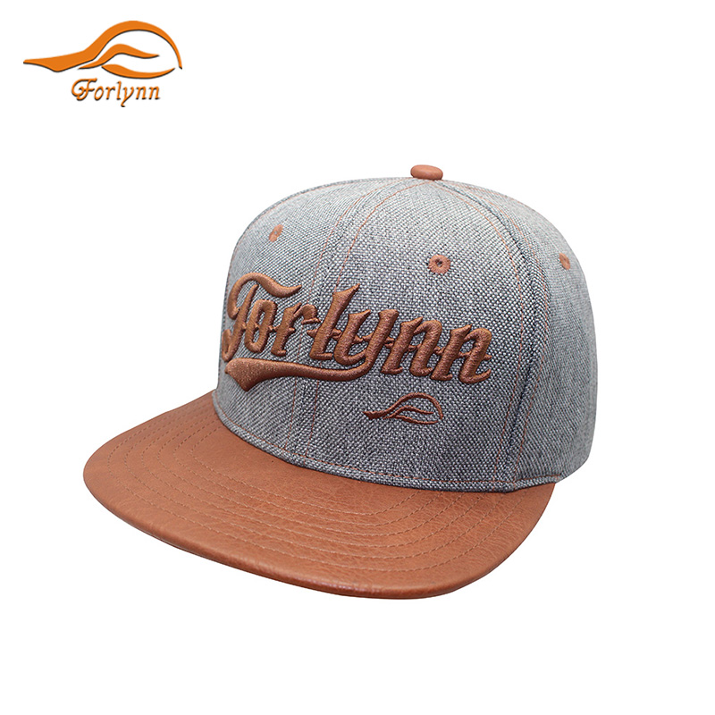Custom Popular flat hip hop embroidery stock snap back caps hat