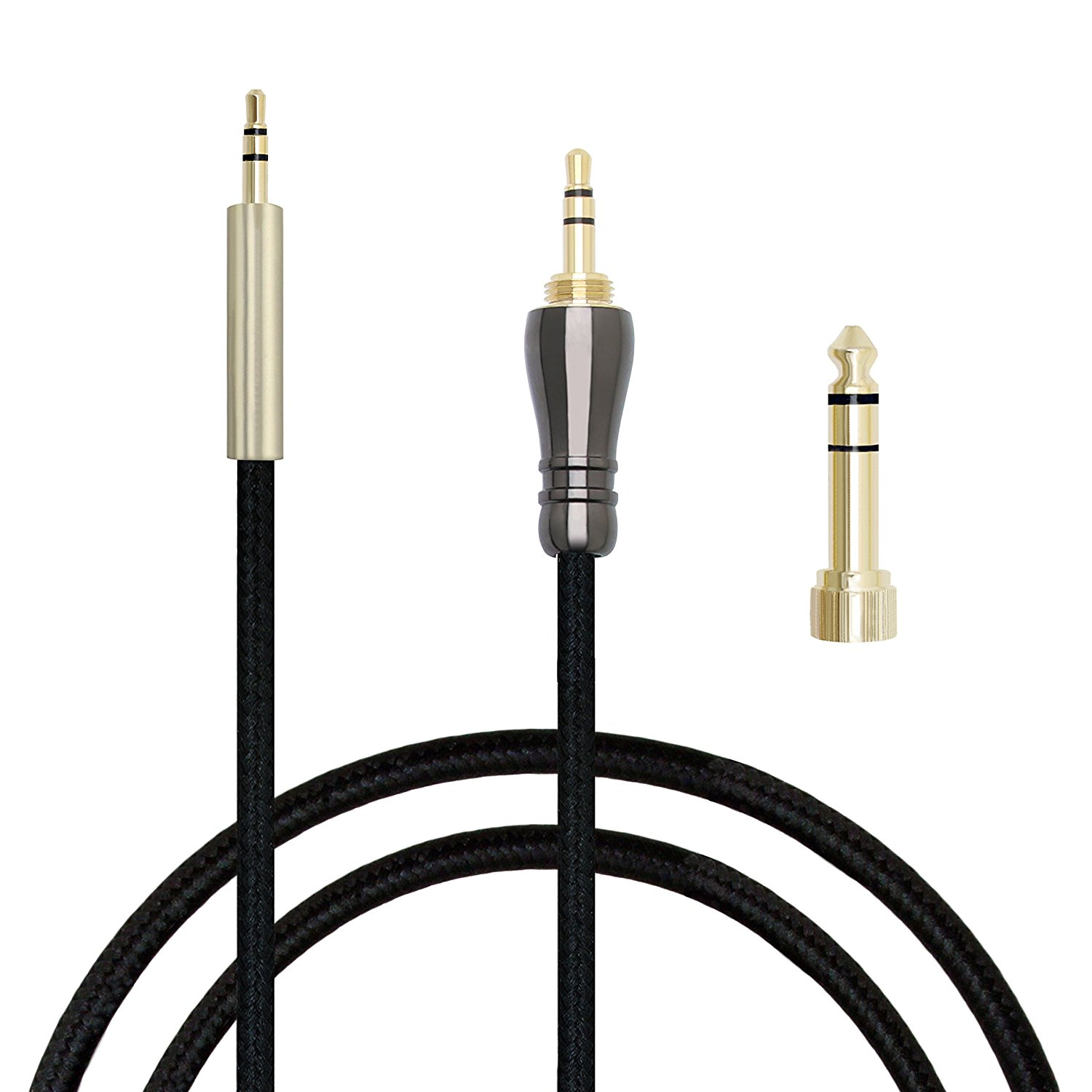 MiCity 4 Replacement Audio Extension Cable Upgrade Cable For AKG Y40 Y45BT Y55 Y50BT Y50 K840KL K840 K830BT K830 Headphones (1.2m)
