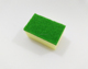 Green color kitchen cleaning sponge with scour pad