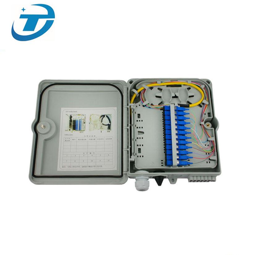 FTTH kapalı açık duvar montaj 4 8 12 16 24 48 çekirdek Port Fiber optik sonlandırma kutusu, telekom Fiber kablo dağıtım kutusu IP65