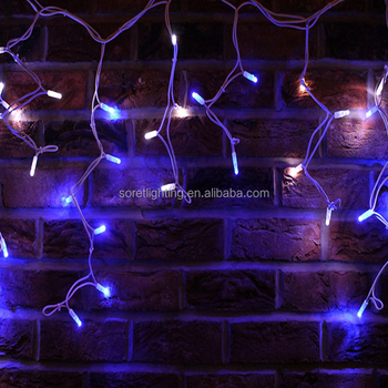 Warm White Outdoor Decoration Led Icicle Lights Fairy
