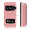 Pink with window and matte back cover for iphone 5c leather case view