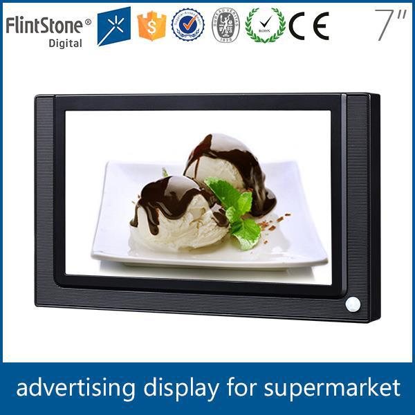 Flintstone 7 inch motion activated ir body sensor auto loop play digital signage ads