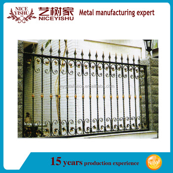 decorative garden iron fence wrought iron fence panels for sale