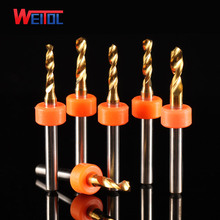 WeiTol 2.2mm to 3.175mm TiN coating PCB drill bit cnc drilling tools with ring