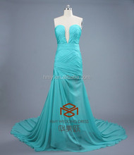 New Fashion Style Factory Handmade Crystal Beaded Sheath Nude Evening Dress HMY-D350 Evening Gown of Chiffon