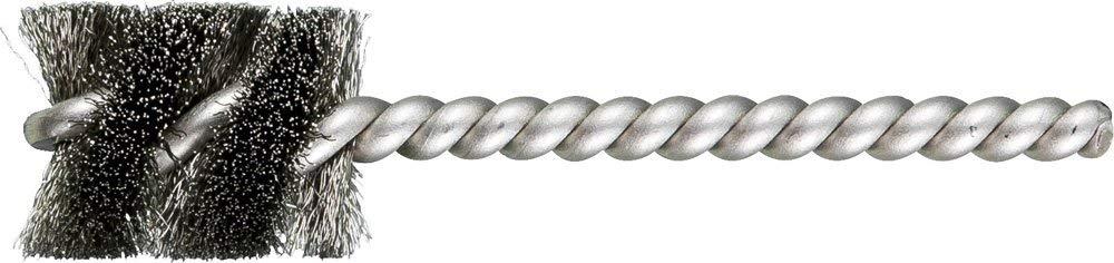 """PFERD 83399 SpyraKleen Tube Brush, Single Stem/Spiral, .005"""", Stainless Steel Wire (INOX), 13/16"""" Diameter, 1/4"""" Stem, 1"""" Brush Part Length (Pack of 36)"""